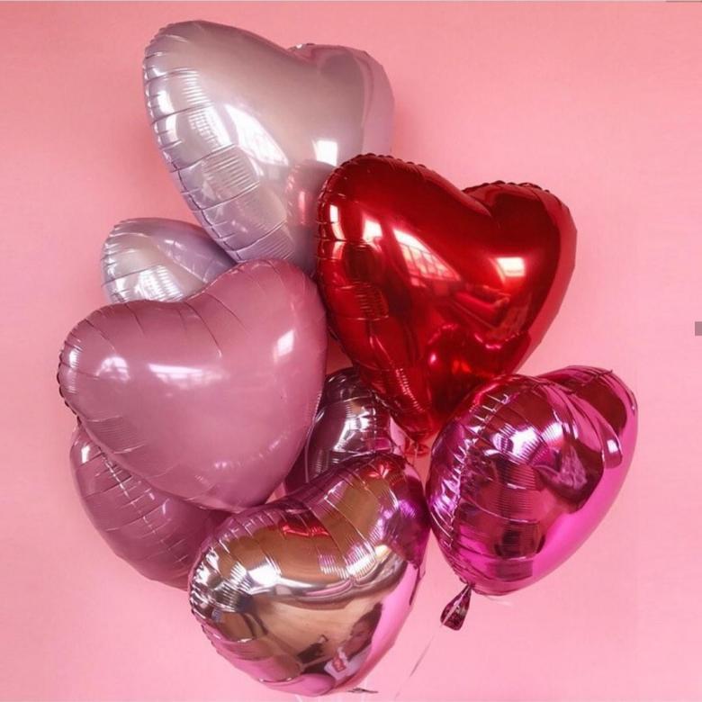 1 шт Фольгированный шар в форме Сердца