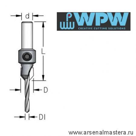 Зенковка оправка коническая D 10 со сверлом 3,6 мм WPW AC03605S