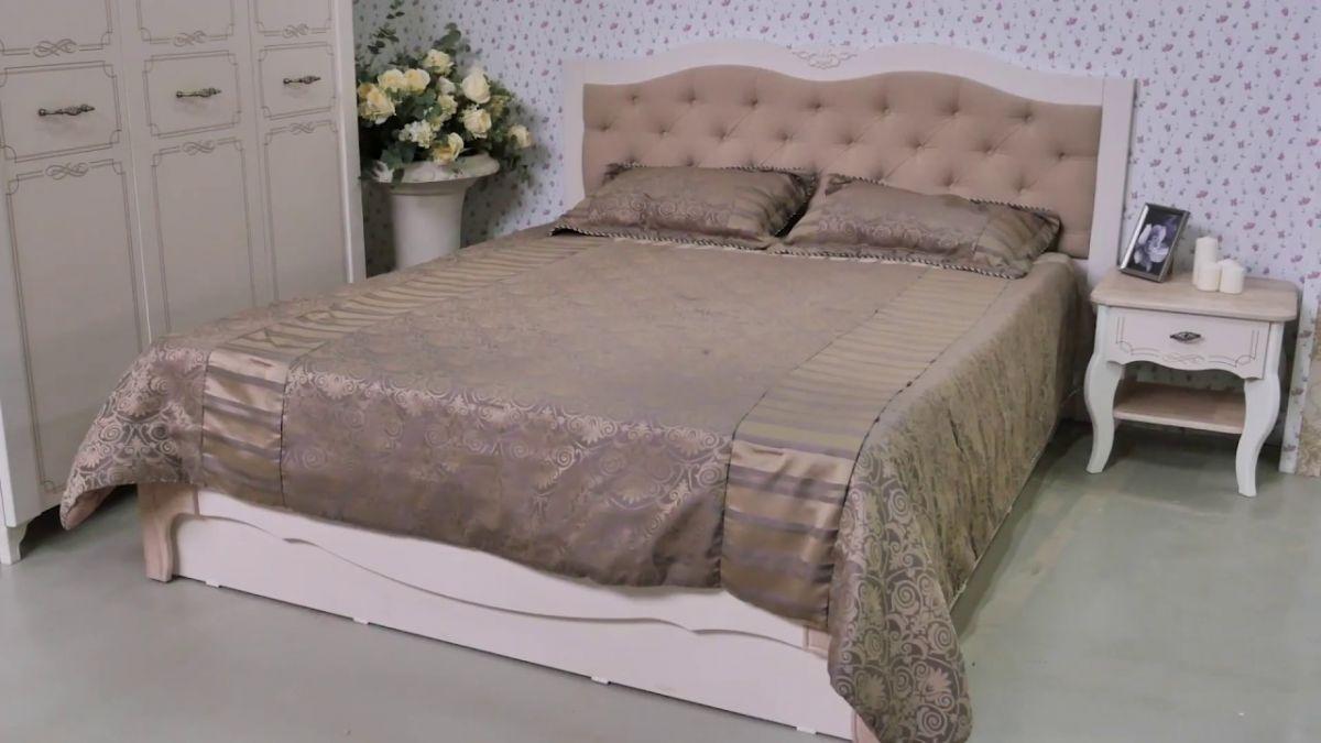 Кровать с мягкой спинкой и подъёмным механизмом  Элен от 1400 до 1800