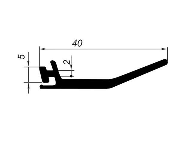 Профиль уплотнительный L=30 м (наружный)