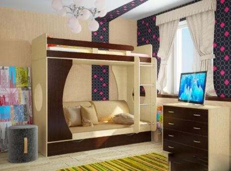 Кровать двухъярусная Фанки Кидз -2
