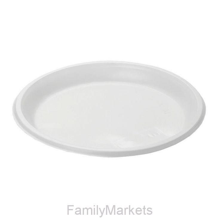 Бессекционная тарелка ЭКО ПС D=20.5 см, 100 шт