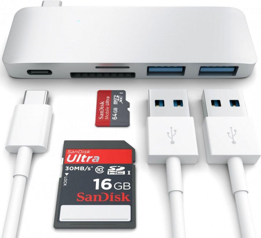 Концентратор Satechi Combo Hub 3 in 1 USB Type-C