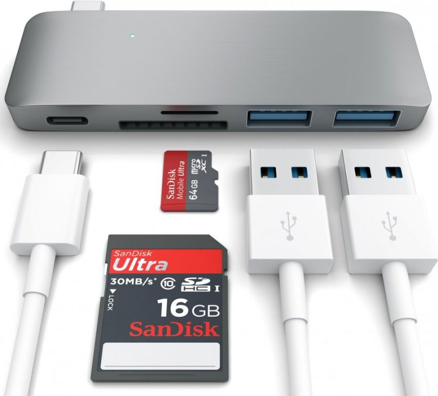 Концентратор Satechi Combo Hub 3 in 1 USB Type-C