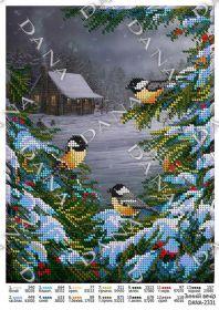 Dana DANA-2331. Зимний Вечер схема для вышивки бисером купить оптом в магазине Золотая Игла