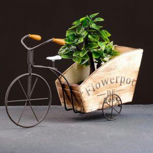 Кашпо-велосипед 34*11*18см