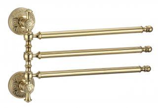 Держатель для полотенец поворотный 3-ой S-005803B Savol золото