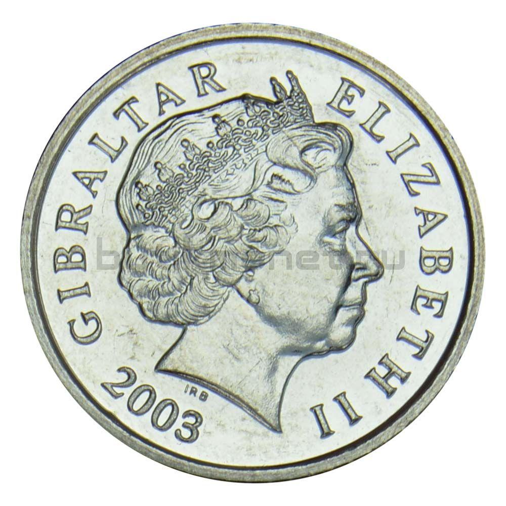 5 пенсов 2003 Гибралтар