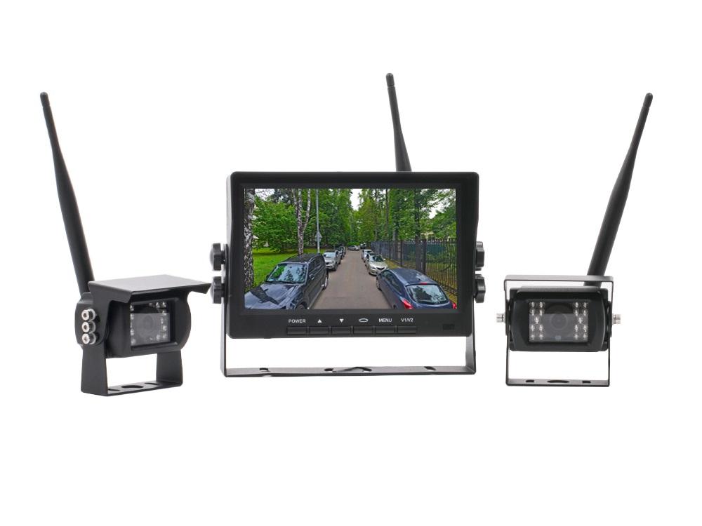 Беспроводной Full HD комплект (2 камеры+монитор) AVS170CPR для грузового транспорта