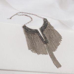 """Колье """"Египет"""", цепочки, цвет чернёное серебро"""