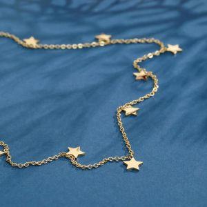 """Колье """"Звёзды"""" ночь, цвет золото, 45 см"""