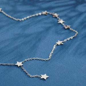 """Колье """"Звёзды"""" тёмная ночь, цвет серебро, 45 см"""