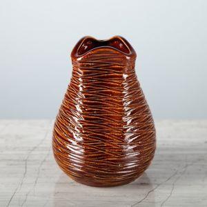 """Ваза """"Бутончик"""" коричневая, 13 см, керамика"""
