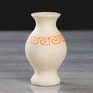 """Ваза настольная """"Юлька"""", под шамот, греческая, бежевая, 9 см, микс , керамика"""