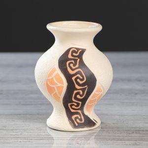 """Ваза настольная """"Эля"""", под шамот, греческая, разноцветная, 12 см, микс , керамика"""