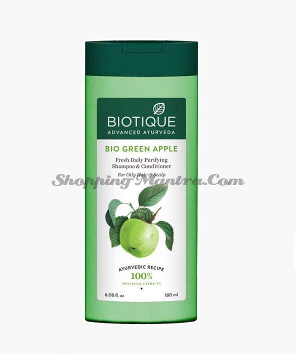 Биотик Зеленое яблоко шампунь-кондиционер | Biotique Bio Green Apple Fresh Daily Purifying Shampoo