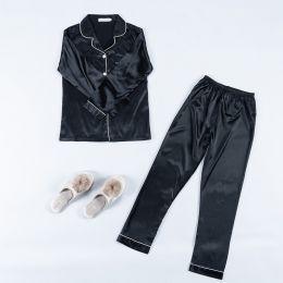 пижама рубашка +штаны, модель 691, размер 42, 44,46,48, черный