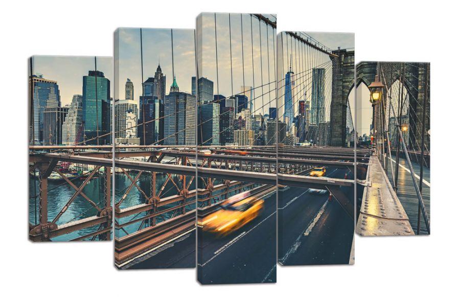 Модульная картина Бруклинский мост Нью-Йорк