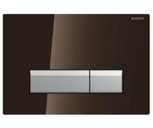 Cмывная клавиша Geberit Sigma 40, со встроенной системой удаления запаха, металл, стекло амбер 115.600.SQ.1