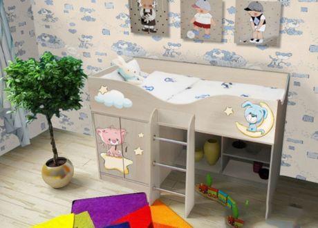 Кровать чердак для детей Лучшие друзья 40017