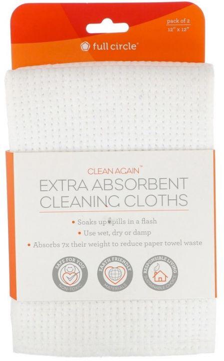 Clean Again, салфетки для уборки с экстравпитывающими свойствами