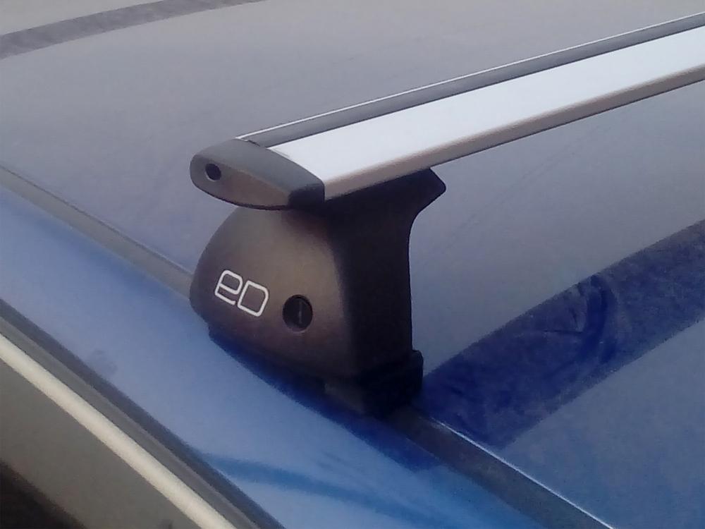 Багажник на крышу Opel Astra H, Евродеталь, крыловидные дуги