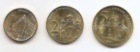 Набор Сербия 2020 Набор из 3 монет