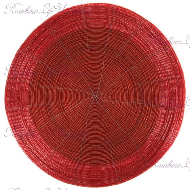 Плейсмат бисер 36 см красный