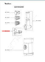 Насадка  нарезка кубиками для кухонного комбайна MOULINEX (Мулинекс) моделей QA4..., QA5...., QA6....Артикул MS-651160