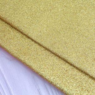 Экокожа для кукольных ботиночек - Золотые блёстки 30х20