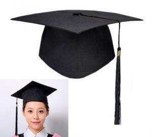 Конфедератка, шапочка для выпускника, 25см х 25см, черная