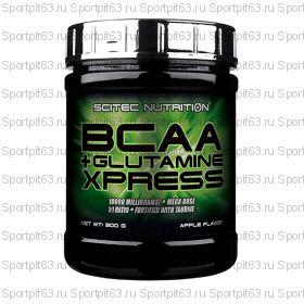 BCAA Scitec Nutrition BCAA+Glutamine Xpress 300 гр (яблоко)