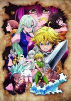 Плакат Nanatsu no Taizai