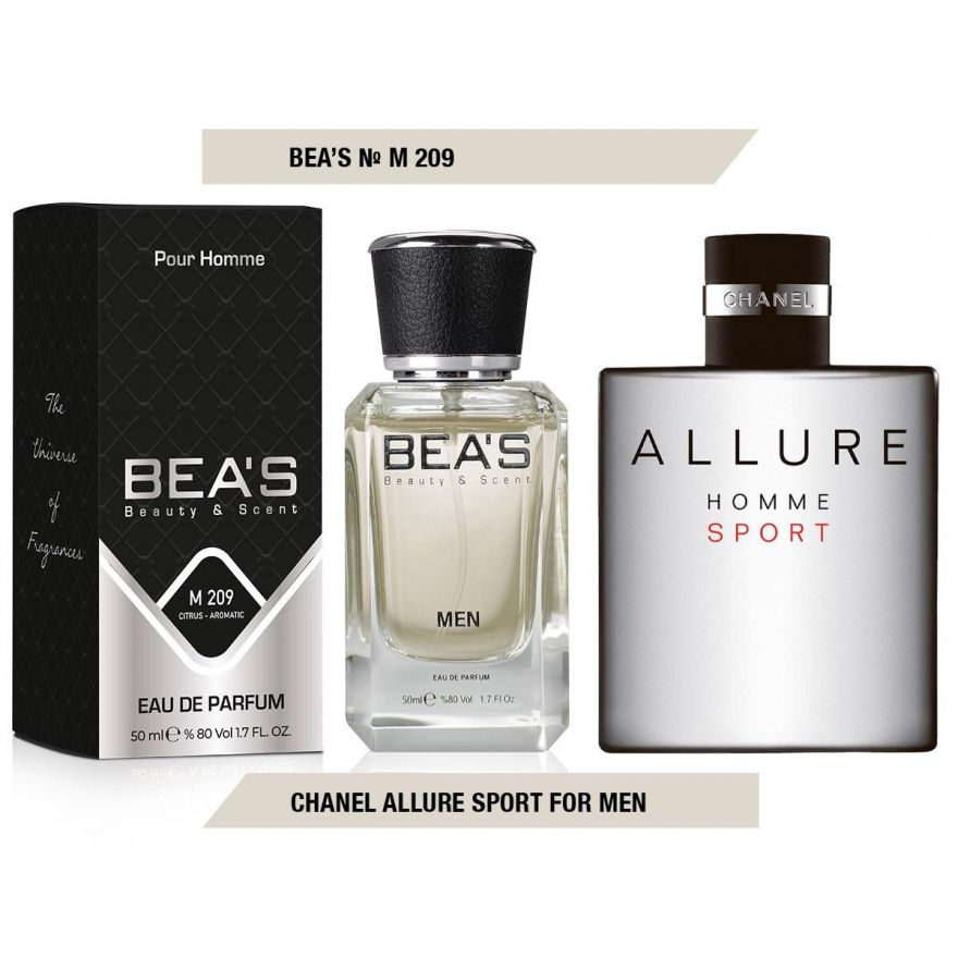 BEA'S (Beauty & Scent) M 209 - Chanel Allure Homme Sport For Men 50 мл