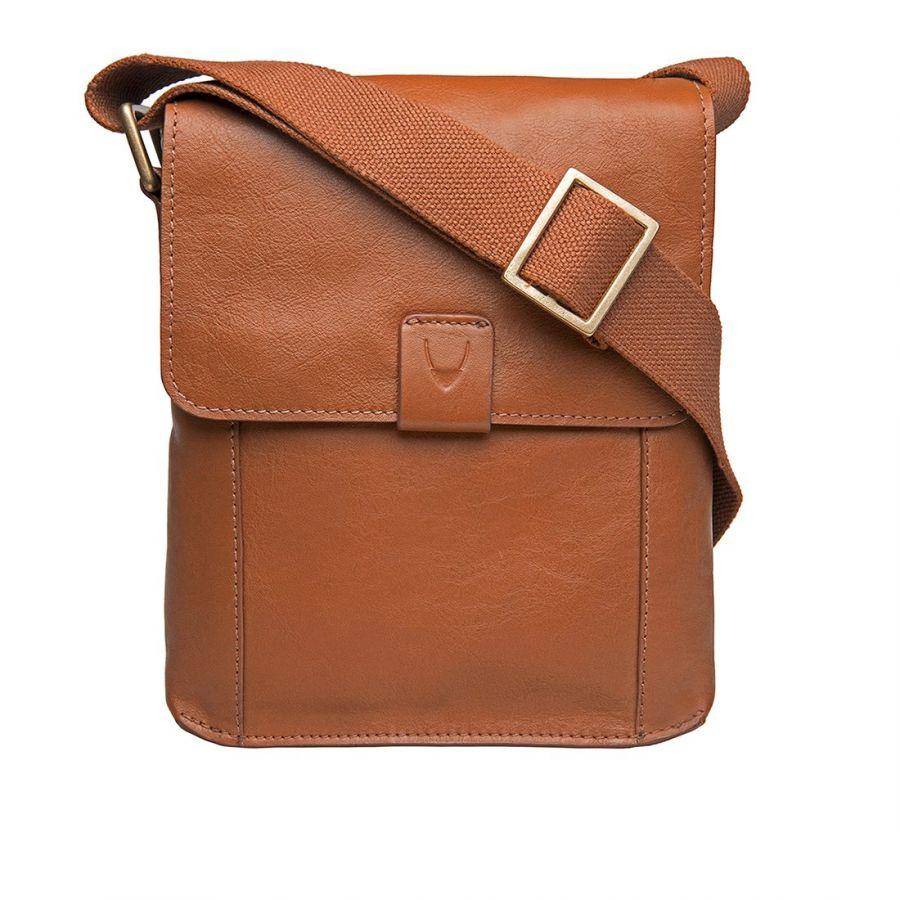 Мужская вертикальная сумка HIDESIGN Aiden-03 Tan
