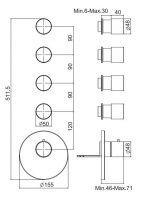 Смеситель для ванны/душа Fima - carlo frattini Spillo steel F3083X4
