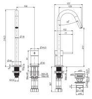 Смеситель для раковины Fima - carlo frattini Spillo up F3271C