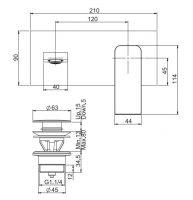 Смеситель для раковины Fima - carlo frattini Fit F3391LX5