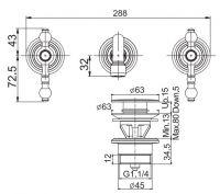 Fima - carlo frattini Elizabeth/Epoque смеситель для раковины F5051L/5