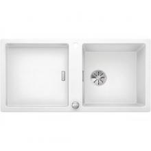 Мойка кухонная Blanco Adon XL 6 S Silgranit PuraDur (белый), 523608