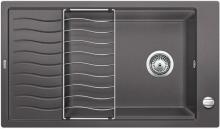 Мойка кухонная Blanco Elon XL 8 S Silgranit PuraDur (темная скала), 524861