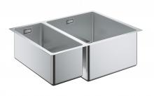 Кухонная мойка из нержавеющей стали, основная чаша справа, монтаж под столешницу, Grohe K700U 31576 SD0 (31576SD0)