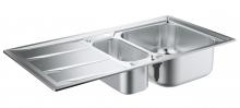 Кухонная мойка из нержавеющей стали с корзинчатым вентилем, оборачиваемая, Grohe K400  31567 SD0 (31567SD0)