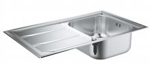 Кухонная мойка из нержавеющей стали с корзинчатым вентилем, оборачиваемая, 1 чаша, Grohe K400+  31568 SD0 (31568SD0)