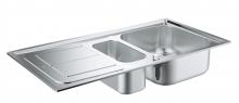 Кухонная мойка из нержавеющей стали с корзинчатым вентилем, оборачиваемая, Grohe K300  31564 SD0 (31564SD0)