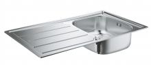 Кухонная мойка из нержавеющей стали с корзинчатым вентилем, Grohe K200 31552 SD0 (31552SD0)