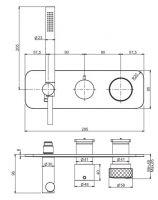 Смеситель для ванны/душа Fima - carlo frattini Texture collection F5619NX2