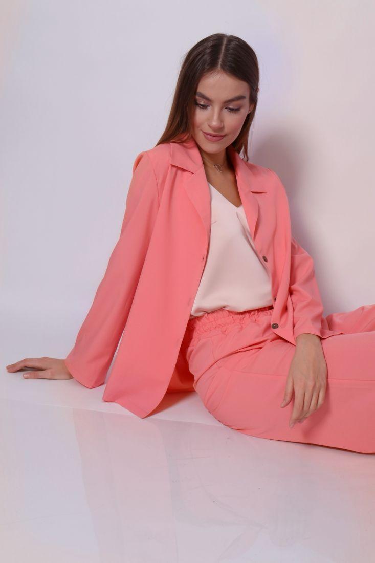 s3658 Костюм в пижамном стиле в тёплом розовом