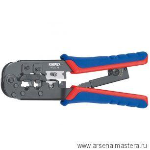 Инструмент для опрессовки штекеров типа Western (ОБЖИМНИК ручной) KNIPEX  97 51 10