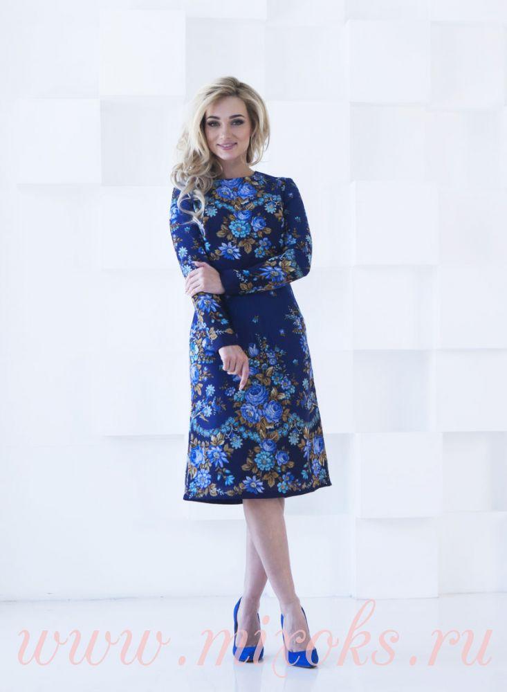 Платье из настоящего павловопосадского платка